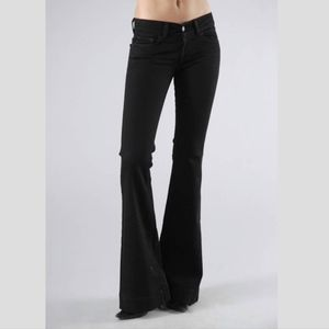 J Brand Black Love Story Bell Bottom Flare Jeans